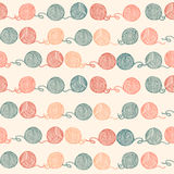 Seamless pattern with balls of yarn. Background in Stock Image