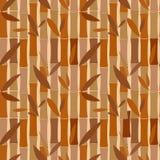 Seamless pattern of bamboo dried sticks. Seamless brown pattern of bamboo dried sticks vector illustration
