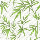 Seamless pattern with bamboo leaves and branches Stock Photography