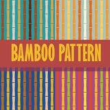 Seamless pattern bamboo stems vertical Stock Photography