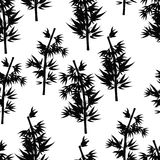 Seamless pattern Bamboo tree tropical china japan. Vector illust. Seamless pattern Bamboo tree tropical silhouette Vector illustration Stock Photography