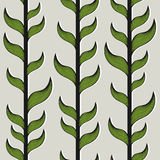 Seamless pattern with bamboo trees and leaves Royalty Free Stock Image