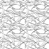 Seamless pattern banana fishes, black and white. Vector seamless pattern with banana fish, black and white Royalty Free Stock Photography
