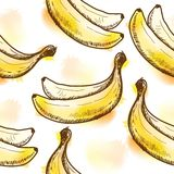 Seamless pattern with banana Royalty Free Stock Photography