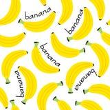 Seamless pattern with banana. Vector illustration, epsn Stock Image