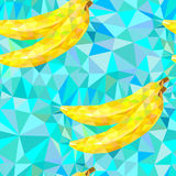 Seamless pattern with bananas triangles Royalty Free Stock Image