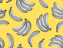 Seamless pattern with bananas. Tropical abstract background in retro style. Easy to use for backdrop, textile, wrapping Stock Image
