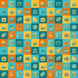 Seamless pattern of banking icons.  Royalty Free Stock Photos