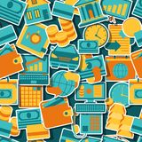 Seamless pattern of banking icons Stock Images