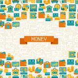 Seamless pattern of banking icons Royalty Free Stock Photos