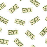 Seamless pattern banknote Stock Photography