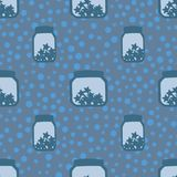 Seamless pattern with banks Stock Image