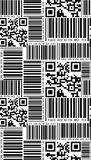 Seamless pattern in barcode style. Royalty Free Stock Image