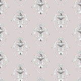 Seamless pattern. Baroque decorative pattern with seamless sample in swatch panel Royalty Free Stock Photos