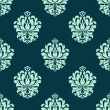 Seamless pattern with baroque floral tracery Royalty Free Stock Images