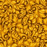 Seamless pattern with baroque ornamental floral Stock Photo