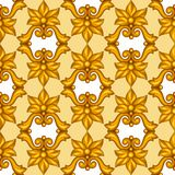 Seamless pattern with baroque ornamental floral Stock Image