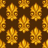 Seamless pattern with baroque ornamental floral Royalty Free Stock Images