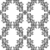 Seamless pattern with baroque ornamental floral Stock Photos