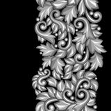 Seamless pattern with baroque ornamental floral Stock Images