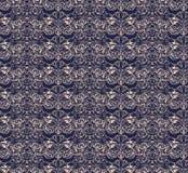 seamless pattern in Baroque style dark blue royalty free illustration