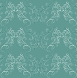 Seamless pattern in Baroque style on green. Royalty Free Stock Image