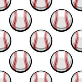 Seamless pattern of baseball balls Royalty Free Stock Images
