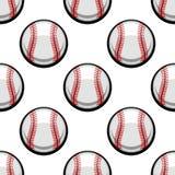 Seamless pattern of baseball balls Royalty Free Stock Images