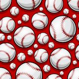 Seamless pattern with baseball softball ball graphics. Vector illustration. Ideal for wallpaper, packaging, fabric, textile, wrapping paper design and any kind royalty free illustration