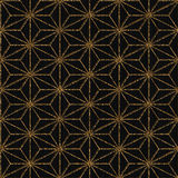 Seamless pattern based on japanese motif. Golden. Stock Photo