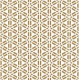 Seamless pattern based on Japanese ornament Kumiko Royalty Free Stock Images