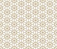 Seamless pattern based on Japanese ornament Kumiko Stock Photo