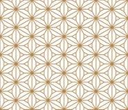 Seamless pattern based on Japanese ornament Kumiko Stock Images