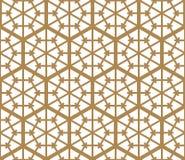 Seamless pattern based on Japanese ornament Kumiko Stock Image