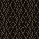 Abstract backdrop. Golden color. Seamless pattern. Seamless pattern based on japanese sashiko motif. Abstract geometric backdrop. Golden color. Simple pattern Royalty Free Stock Photography