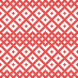Seamless pattern based on slavic ornament.Filled with red circles. Pattern based on Traditional ethnic Russian and slavic ornament.DISABLING LAYER, you can vector illustration