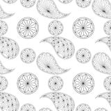 Seamless pattern based on traditional Asian Stock Photos