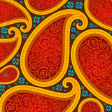 Seamless pattern based on traditional Asian elements. Paisley stock illustration