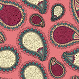 Seamless pattern based on traditional Asian elements Paisley. Stock Photos