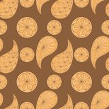 Seamless pattern based on traditional Asian Royalty Free Stock Photo