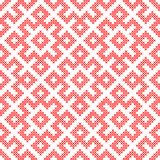 Seamless pattern based on traditional Russian and slavic ornament Stock Photo