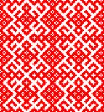 Seamless pattern based on traditional Russian and slavic ornament Stock Image
