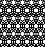Seamless pattern on the basis of Islam patterns in black and white in large thickness lines. Seamless pattern on the basis of Islam patterns in large thickness Royalty Free Stock Image