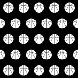 Seamless pattern with basketball Royalty Free Stock Image