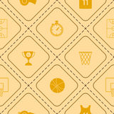 Seamless pattern with basketball icons. For your design Royalty Free Stock Photo