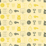 Seamless pattern with basketball icons Stock Photography