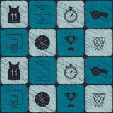 Seamless pattern with basketball icons. For your design Royalty Free Stock Photography