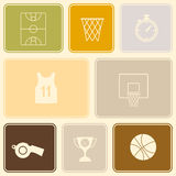 Seamless pattern with basketball icons. For your design Royalty Free Stock Photos