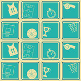Seamless pattern with basketball icons. For your design Stock Images