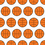 Seamless pattern of basketball, sports balls. Vector Royalty Free Stock Photography